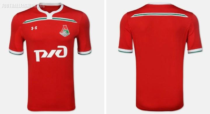 Lokomotiv Moscow UEFA Champions League 2018 2019 Under Armour Football Kit, Soccer Jersey, Shirt