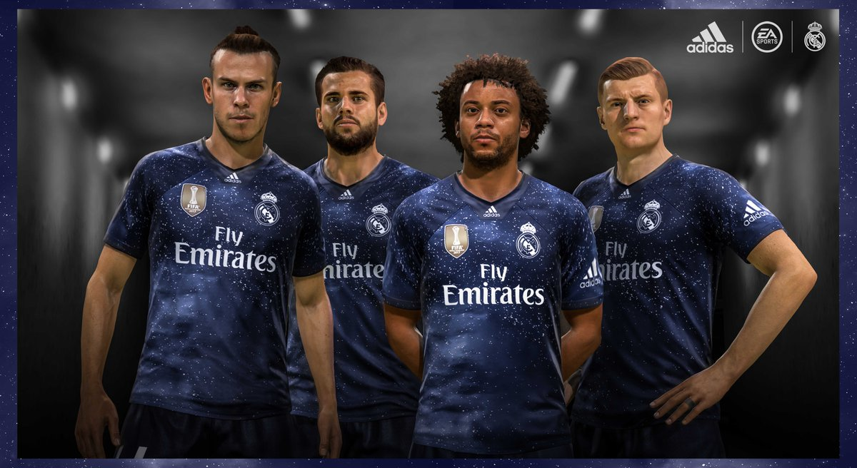 ec813ef0f Real Madrid 2018 2019 adidas EA Sports FIFA 19 FUT Fourth Football Kit