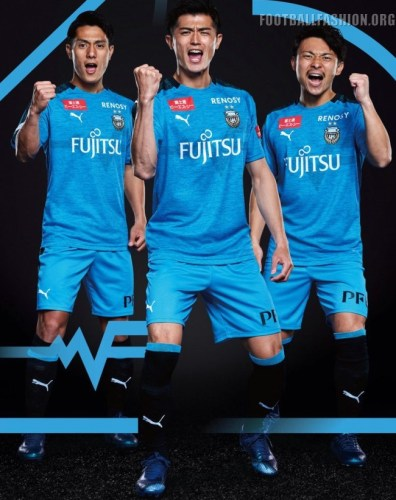 Kawasaki Frontale 2019 PUMA Home Football Kit, Soccer Jersey, Shirt