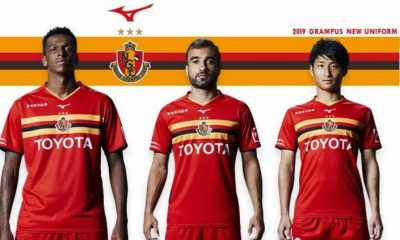 Nagoya Grampus 2019 Mizuno Home Football Kit, Soccer Jersey, Shirt