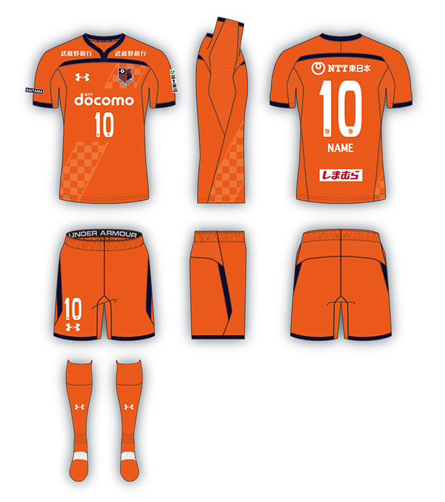 996b5d7a308 The kits use a design from Under Armour s 2018 19 teamwear catalog  featuring a y-neck collar with a horizontal line across its bottom.