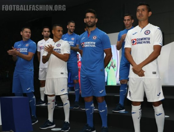 Cruz Azul 2019 Joma Home and Away Football Kit, Soccer Jersey, Shirt, Camiseta de Futbol