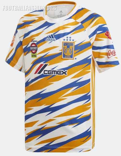 The Tigres UANL 2019 adidas third uniform is completed with white shorts  and socks. It will be on sale at World Soccer Shop. 1fb967822
