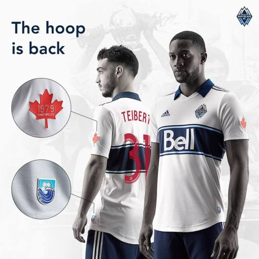 Vancouver Whitecaps 2019 adidas Home Football Kit, Soccer Jersey, Shirt