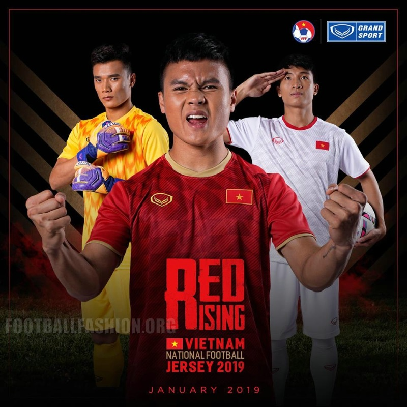 Vietnam 2019 Grand Sport Home and Away Kits – FOOTBALL FASHION.ORG 258521d49