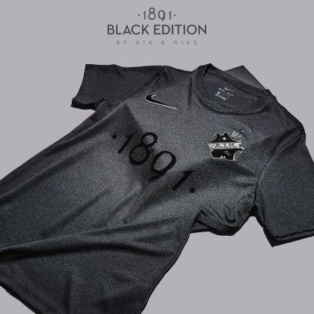 AIK 1891 Black Edition Nike Football Kit, Soccer Jersey, Shirt