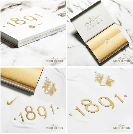 AIK 1891 White Edition Nike Football Kit, Soccer Jersey, 2019 Shirt