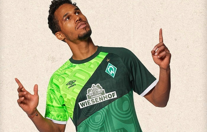 Werder Bremen 120th Anniversary Umbro Football Kit, Soccer Jersey, Shirt, Trikot 120 Jahre, Jubiläumstrikot
