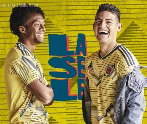 Colombia 2019 Copa América adidas Home Soccer Jersey, Football Kit, Shirt, Camiseta de Futbol