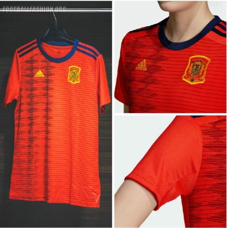 Spain 2019 Women's World Cup adidas Home Football Kit, Soccer Jersey, Shirt, Camiseta de Futbol Mundial Femenino