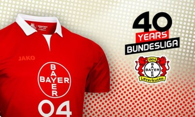 "Bayer Leverkusen 2019 ""40 Years in the Bundesliga"" Football Kit, Soccer Jersey, Shirt, Sondertrikot 40 Jahre"