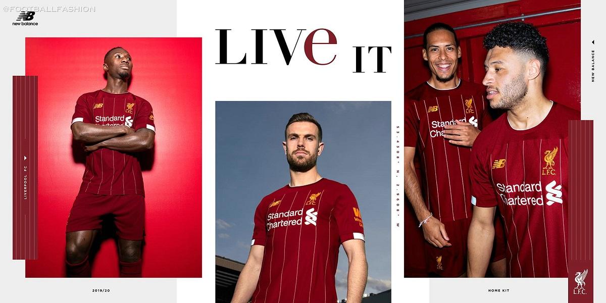 a06171eb3c3 Liverpool FC 2019 20 New Balance Home Kit - FOOTBALL FASHION.ORG