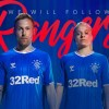 Rangers FC 2019 2020 hummel Home Football Kit, Soccer Jersey, Shirt