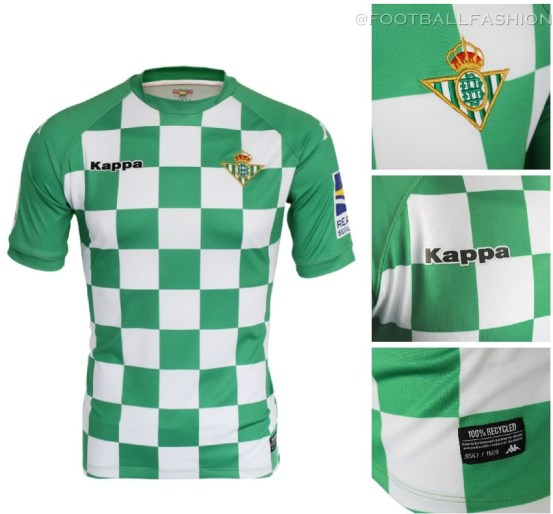Real Betis 2019 Recycled Kappa Football Kit, Soccer Jersey, Shirt, Camiseta de Futbol Earth Day