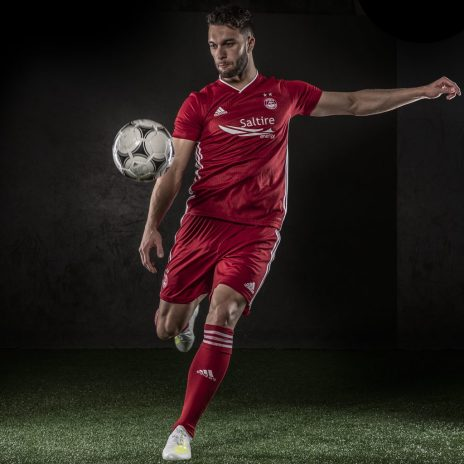 Aberdeen Football Club 2019 2020 adidas Home Football Kit, Soccer Jersey, Shirt