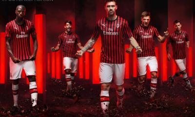 AC Milan 2019 2020 PUMA Red Black Home Soccer Jersey, Shirt, Football Kit, Gara, Maglia, Camisa, Camiseta, Maillot, Trikot