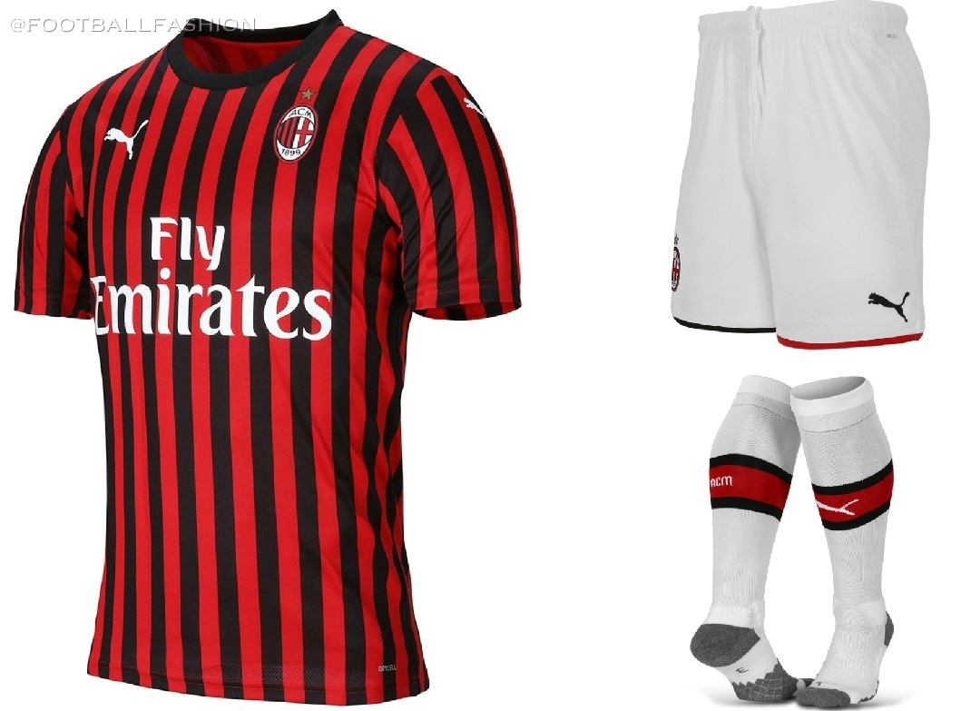 newest 9c34c cd80d AC Milan 2019/20 PUMA Home Kit - FOOTBALL FASHION.ORG