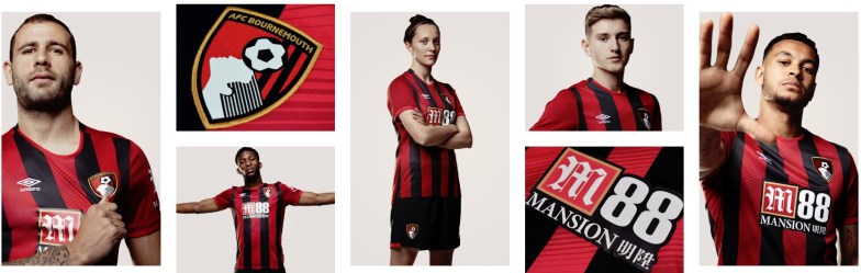 AFC Bournemouth 2019 2020 Umbro Home Football Kit, Soccer Jersey, Shirt