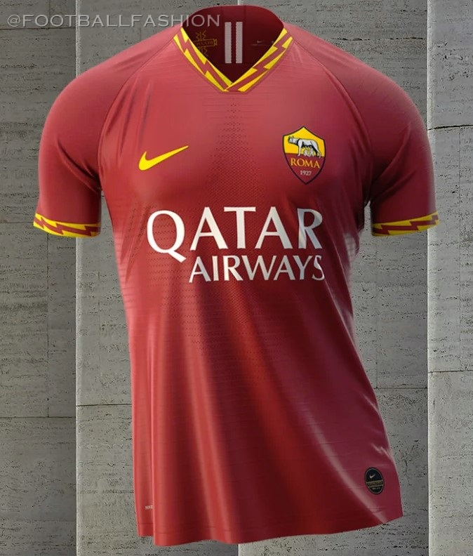 7ada3a381 AS Roma 2019 2020 Nike Home Football Kit, Soccer Jersey, Shirt, Camiseta,
