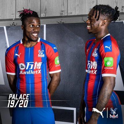 Crystal Palace 2019 2020 PUMA Home and Away Football Kit, Soccer Jersey, Shirt, Maillot, Camiseta, Camisa, Trikot