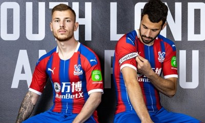 Crystal Palace 2019 2020 PUMA Home and Away Football Kit, Soccer Jersey, Shirt, Maillot, Camiseta, Camisa, Trikot