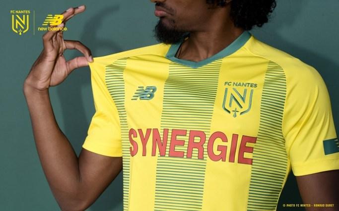 FC Nantes 2019 2020  New Balance Home Football Kit, Soccer Jersey, Shirt
