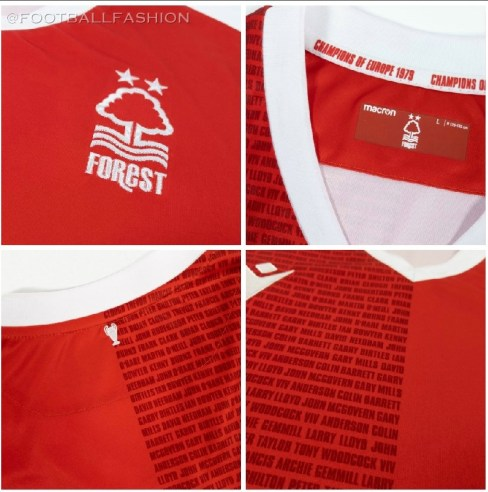 Nottingham Forest 1979 European Cup Macron Celebration Football Kit, Soccer Jersey, Shirt