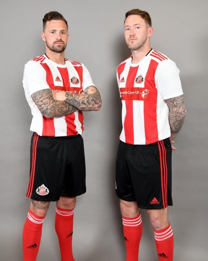 Sunderland 2019 2020 adidas Home Football Kit, Soccer Jersey, Shirt