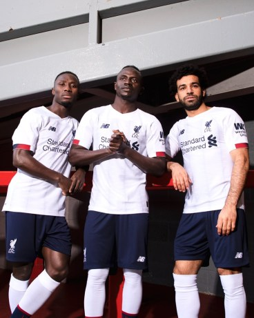 Liverpool FC 2019 2020 White New Balance Away Football Kit, Soccer Jersey, Shirt, Camiseta, Camisa, Maillot, Trikot