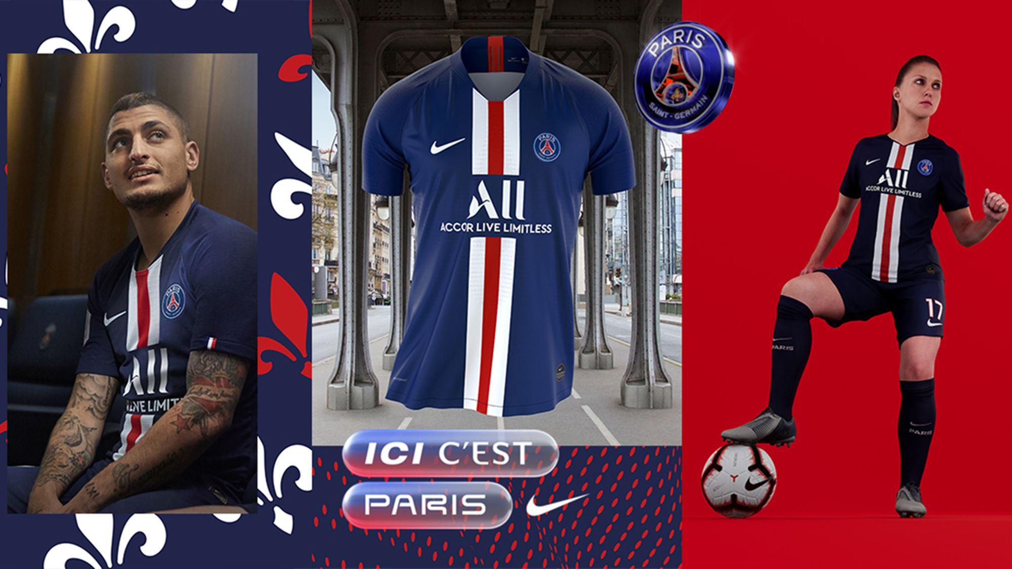 low priced 501df 4bb53 Paris Saint-Germain 2019/20 Nike Home Kit - FOOTBALL FASHION.ORG