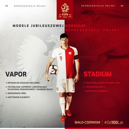 Poland 2019 Nike 100th Anniversary Football Kit, Soccer Jersey, Stroje Polski, Polska, Jubileuszowa