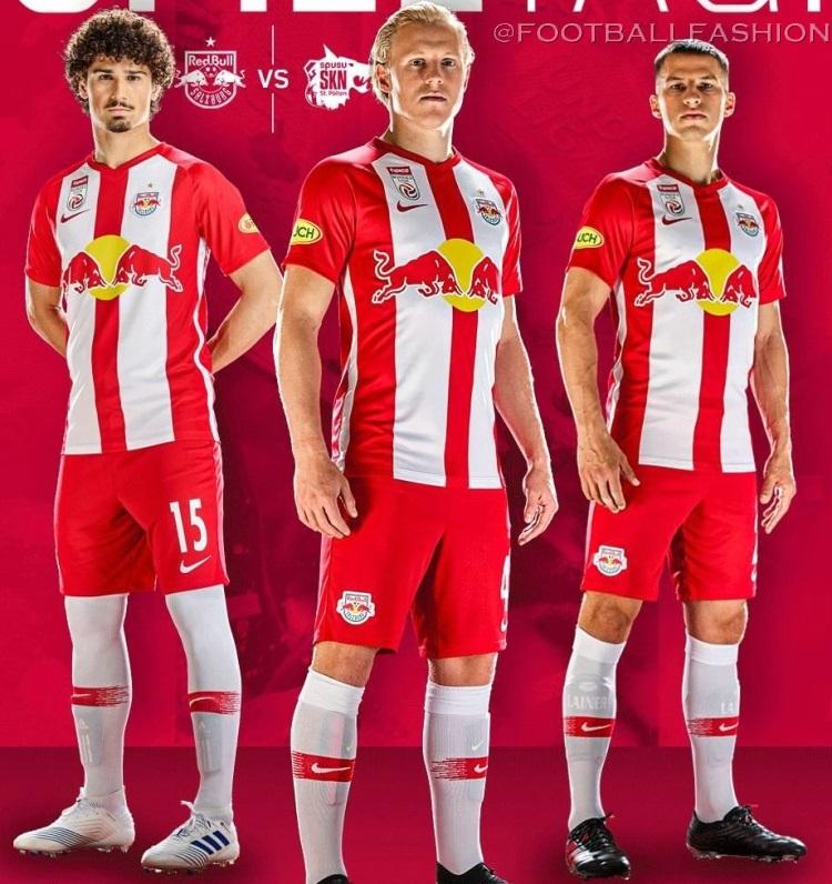 Red Bull Salzburg 2019 20 Nike Home Kit Football Fashion Org