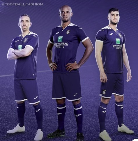 RSC Anderlecht 2019 2020 Joma Home Football Kit, Soccer Jersey, Shirt, Maillot, Tenue