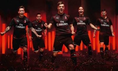 AC Milan 2019 2020 PUMA Red Black Third Soccer Jersey, Shirt, Football Kit, Gara, Maglia, Camisa, Camiseta, Maillot, Trikot