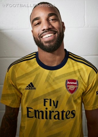 Arsenal FC 2019 2020 adidas Yellow Bruised Banana Away Football Kit, Shirt, Soccer Jersey, Maillot, Camiseta, Camisa, Trikot, Tenue
