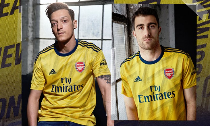 info for 076d3 909d2 Arsenal 2019/20 adidas 'Bruised Banana' Away Kit - FOOTBALL ...