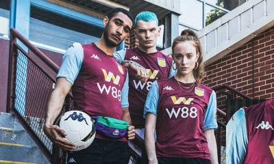 Aston Villa 2019 2020 Kappa Home Football Kit, Soccer Jersey, Shirt