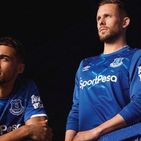 Everton FC 2019 2020 Umbro Home Football Kit, Soccer Jersey, Shirt, Camiseta, Camisa, Trikot, Maillot