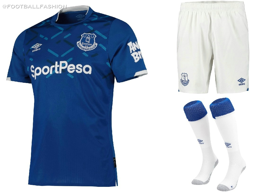 lower price with bd046 5f579 Everton FC 2019/20 Umbro Home Kit - FOOTBALL FASHION.ORG