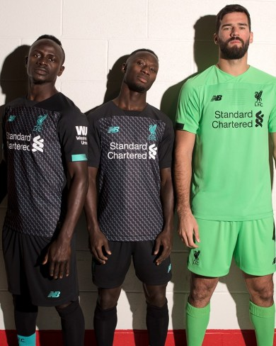 Liverpool FC 2019 2020 Black New Balance Third Football Kit, Soccer Jersey, Shirt, Camiseta, Camisa, Maillot, Trikot