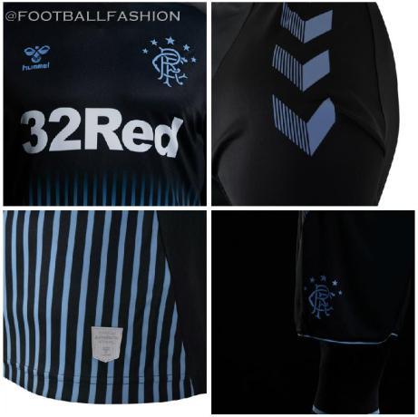 Rangers FC 2019 2020 hummel Away Football Kit, Soccer Jersey, Shirt