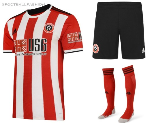 Sheffield United FC 2019 2020 adidas Home and Away Football Kit, Soccer Jersey, Shirt