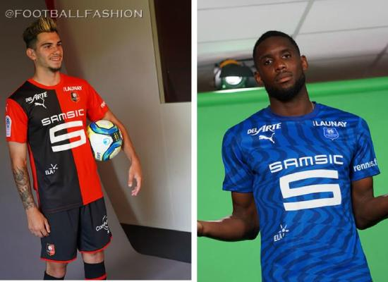 Stade Rennais 2019 2020 PUMA Home and Away Football Kit, Soccer Jersey, Shirt, Maillot