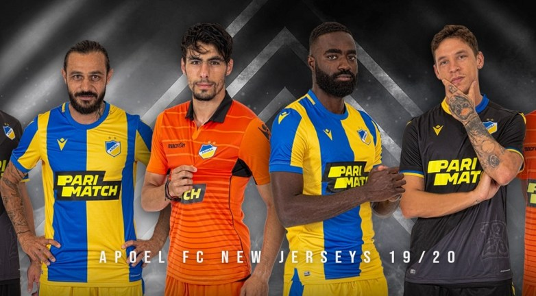 APOEL FC 2019 2020 Macron Football Kit, Soccer Jersey, Shirt