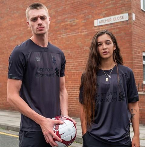 Liverpool FC 2019 2020 New Balance Black Football Kit, Soccer Jersey, Shirt, Camiseta, Camisa, Maillot, Trikot