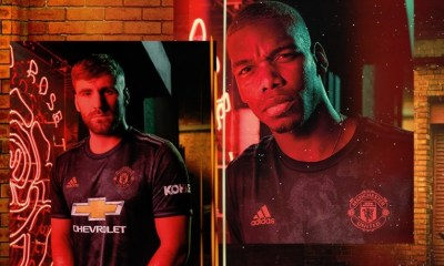 Manchester United 2019 2020 adidas Black Third Football Kit, Soccer Jersey, Shirt, Camiseta, Camisa, Maillot, Trikot