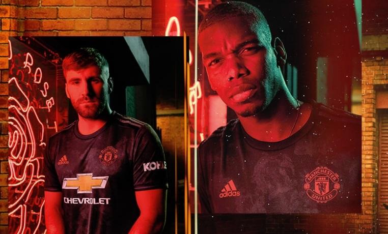 Manchester United 2019 2020 adidas Black Third Football Kit, Soccer Jersey, Shirt, Camiseta, Camisa, Maillot, Trikot