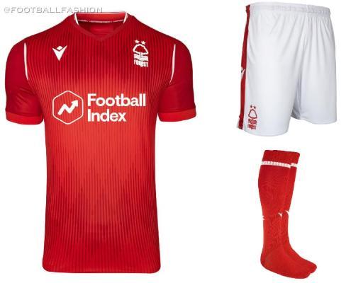 Nottingham Forest 2019 2020 Macron Football Kit, Soccer Jersey, Shirt