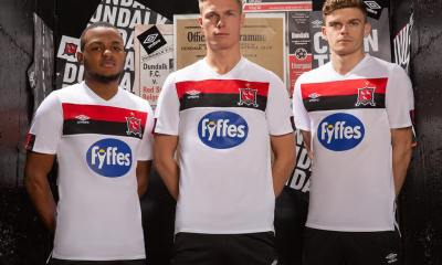 Dundalk Football Club 2020 Umbro Home Kit, Soccer Jersey, Shirt