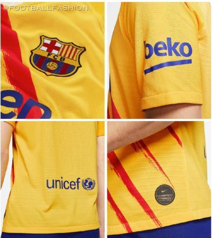 FC Barcelona 2019 2020 Nike Senyera Fourth Football Kit, Soccer Jersey, Shirt, Camiseta, Equipacion, Camisa, Maillot, Trikot, Tenue